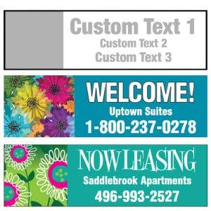 Custom Banner - 3 Lines Stacked 10' W x 3' H