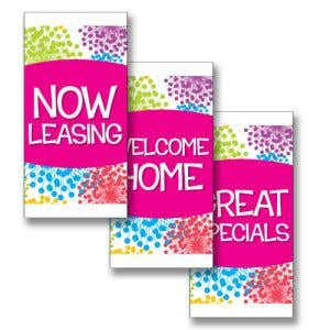 Boulevard Banners - Colorful Blooms - Pink