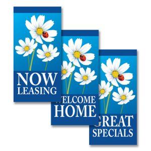 Boulevard Banners - Ladybug Daisies