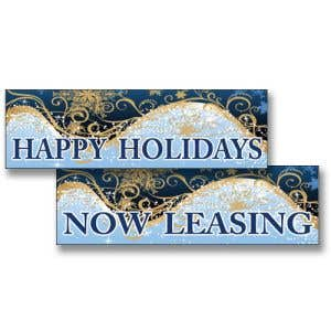 Holiday Banners - Shimmering Scroll