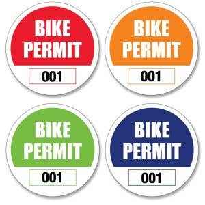Bike Permit – Outside Adhesive – Circle