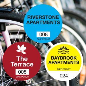 Custom Bike Permit - Outside Adhesive - Circle