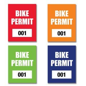 Bike Permit – Outside Adhesive – Rectangle