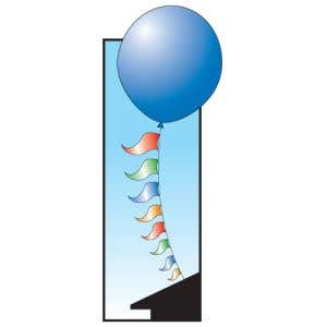6' Balloon and Pennant Combo