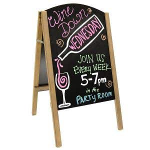 A-Frame Sidewalk Chalkboard and Marker Kit