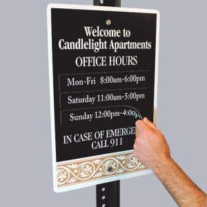 Custom Office Hour Sign - Changeable