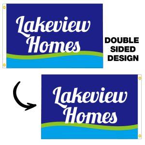Double-Sided Custom 3x5 Horizontal Flag