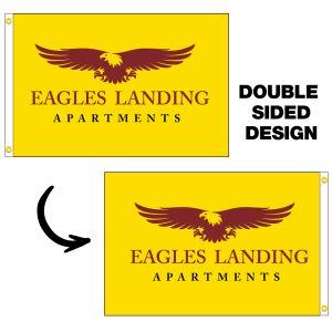 Double-Sided Custom 4x6 Horizontal Flag
