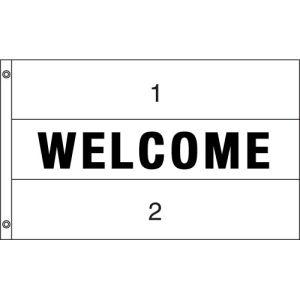 Horizontal Custom Flag - Welcome