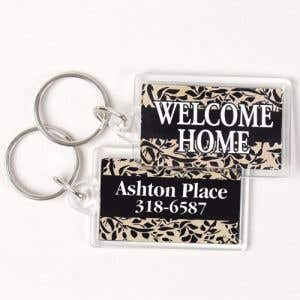 Custom Acrylic Key Tags - Rectangle