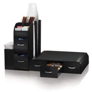 Coffee Station Kit - Large Caddy with Pod Drawer