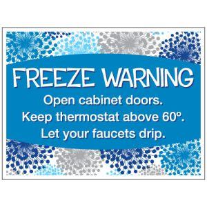 """Bandit Sign - """"Freeze Warning"""" Winter Blooms"""