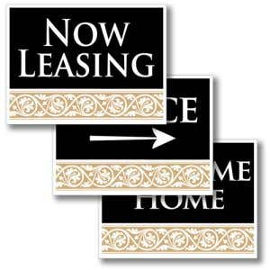 Lease more with elegant signs!