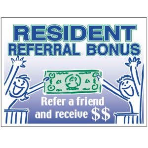 """Bandit Sign - """"Resident Referrals"""" Green and Blue"""