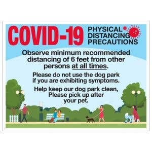 Pet Waste Bandit Sign - COVID-19 Park Rules