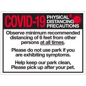 Pet Waste Bandit Sign - COVID-19 Regulations