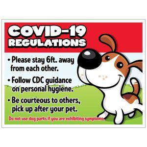 Pet Waste Bandit Sign - COVID-19 Dog Rules