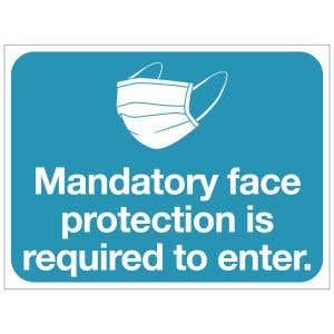 Bandit Sign - Mandatory Face Protection