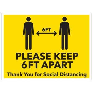 Bandit Sign - Social Distancing