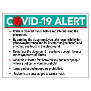 Bandit Sign - COVID-19 Alert