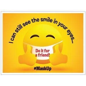 Bandit Sign — #MaskUp Smiley Face