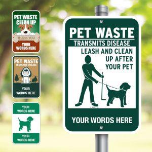 Custom Aluminum Signs - Pet Signs