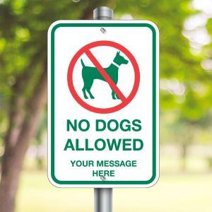 Custom Aluminum Signs - Pet Signs - No Dogs