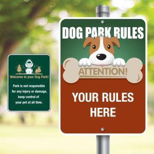 Custom Aluminum Signs - Pet Rules Signs
