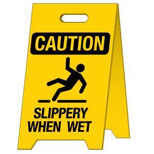Caution Wet Floor Standing Sign
