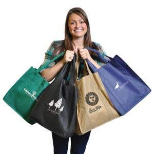 Custom tote bags in a variety of colors!