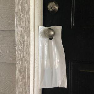 Opaque Door Hanger Bag