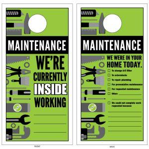 Maintenance Door Hanger - Jumbo Size