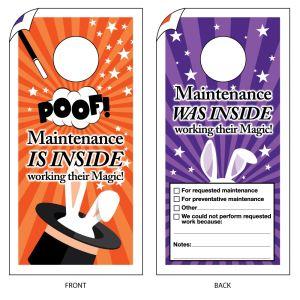 Maintenance Door Hanger - Magicians