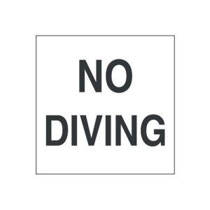 No Diving Adhesive Deck Pool Marker