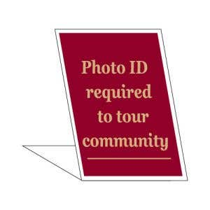 Photo ID Required Desktop Sign