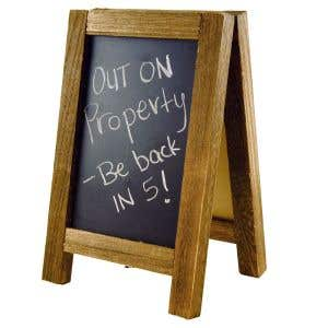 Wooden A-Frame Tabletop Chalkboard