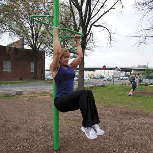Outdoor Fitness Equipment - Knee Lift Station