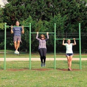 Outdoor Fitness Equipment - Joint Use Pull Up Bar Station