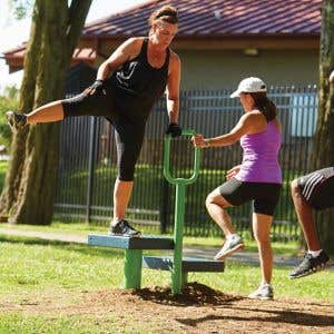 Outdoor Fitness Equipment -  Step Up Station