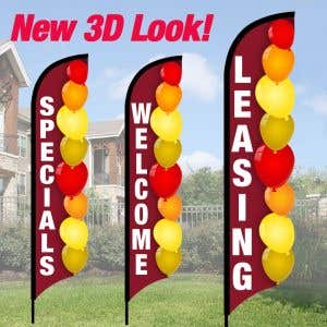 3D Wave Flag Kits - Autumn Balloons