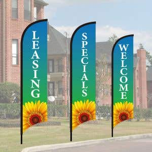 Wave Flag Kits - Morning Sunflower