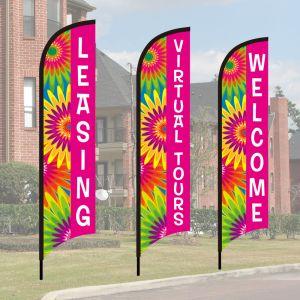 Wave Flag Kits - Flower Power