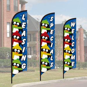 Holiday Wave Flag Kits - Penguin Squad