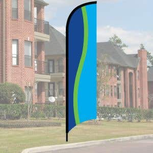 Wave Flag Kit - Blue, Lime and Ocean