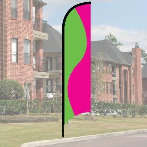 Wave Flag Kit - Lime and Pink