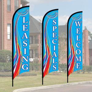 Wave Flag Kits - Blue Swirl