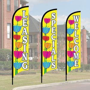 Wave Flag Kits - Cheerful Tulips