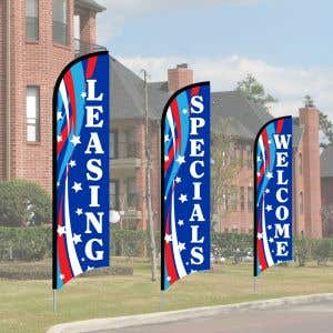 Wave Flag Kits - Patriotic Swirl