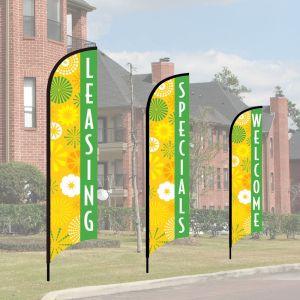 Wave Flag Kits - Mod Floral