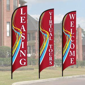Wave Flag Kits - Red Swirl